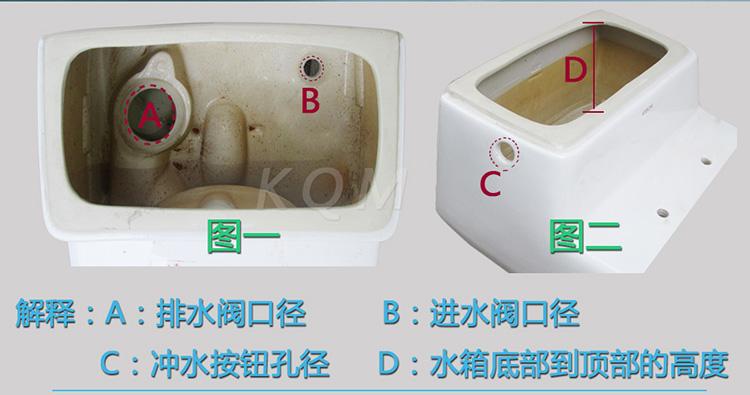 科奇玛 kqm 箭牌马桶配件排水阀 老式 坐便器桶式排水图片