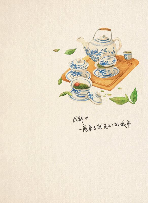 ew正版 飞乐鸟的手绘旅行笔记: 成都 旅行绘本 水彩绘画 手绘成都旅游