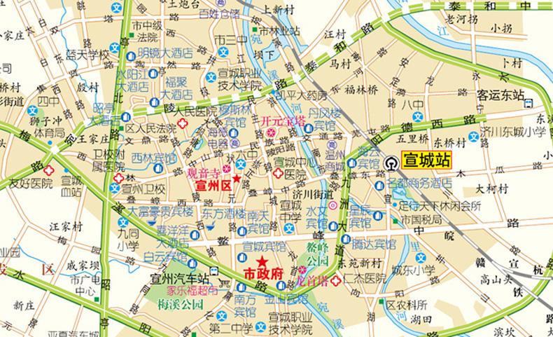 2018新版安徽省交通旅游图 合肥地图覆膜防水撕不烂 中国分省旅游地图