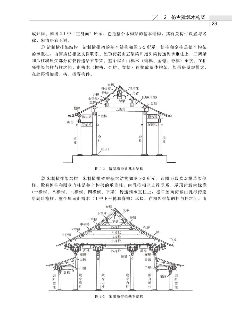 图解园林仿古建筑设计施工 基础台基 木架构 砌体 屋面 地面 装修彩绘