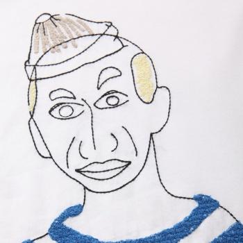 手绘人物表情男