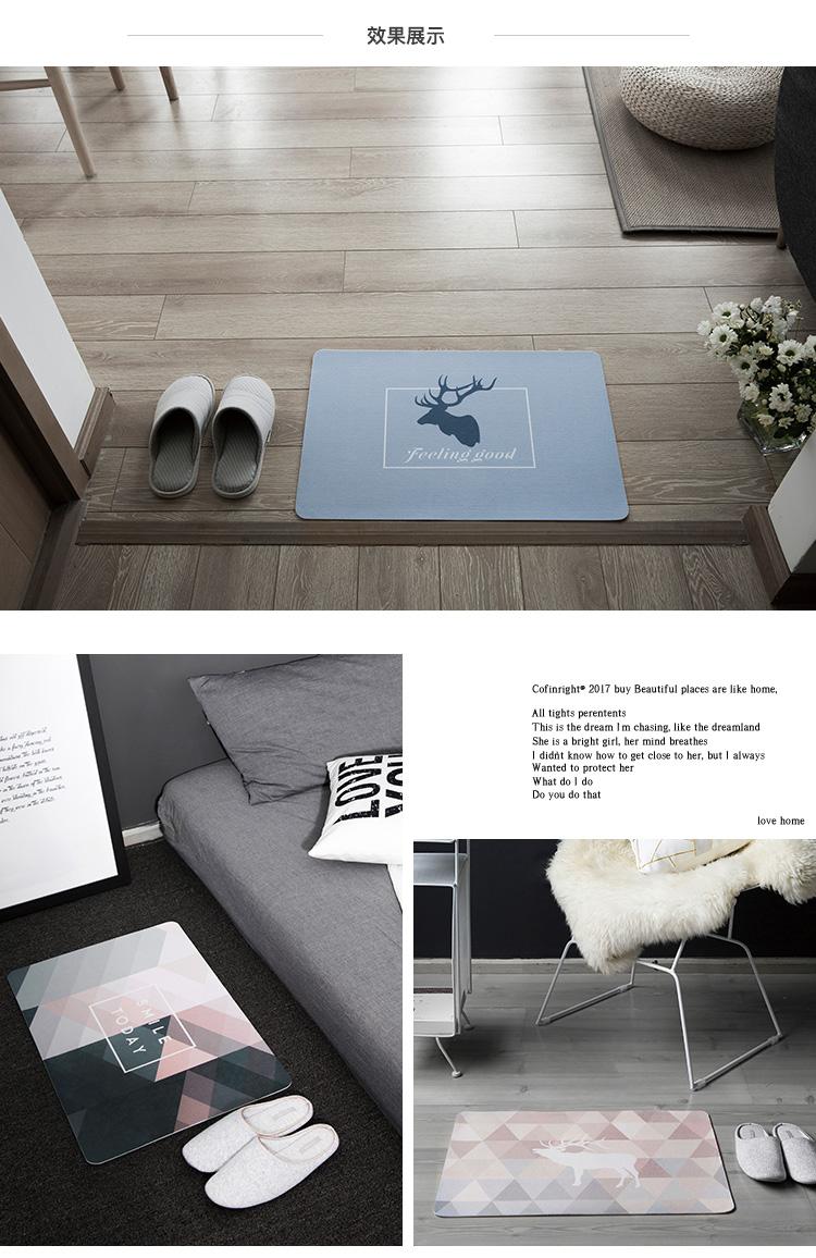范居态度 ins北欧进门门厅入户门口地垫子家用脚垫厨房卫生间客厅卧室图片