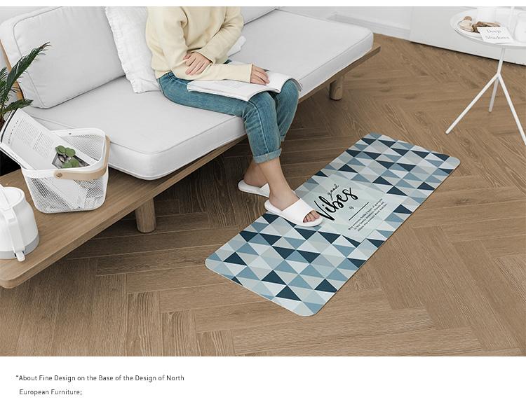 范居态度 北欧ins进门门厅入户门口地垫子家用脚垫厨房卫生间客厅卧室图片