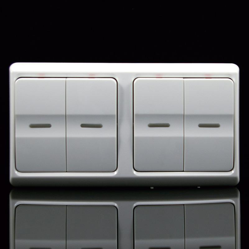 gab佳安宝开关插座面板双86四位单控四开四联单路开关