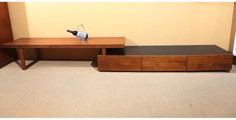 客厅实木电视柜 现代简约中式图片