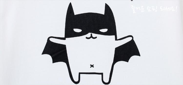 韩都衣舍女装专场   简单蝙蝠图案设计,让整件t恤看起来更加与众不同.
