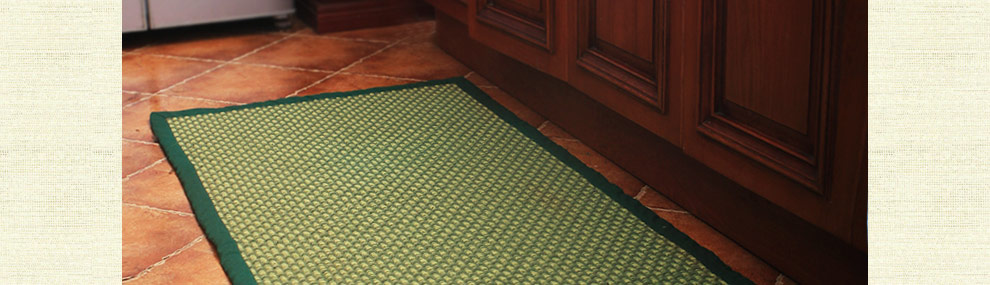 60 朴居 夏天地毯 客厅 田园卧室长方形宜家手工地垫茶几垫 现代简约