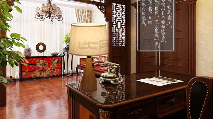 比月现代中式客厅卧室床头灯具竹木质田园装饰落地台灯3270 顶灯椟图片