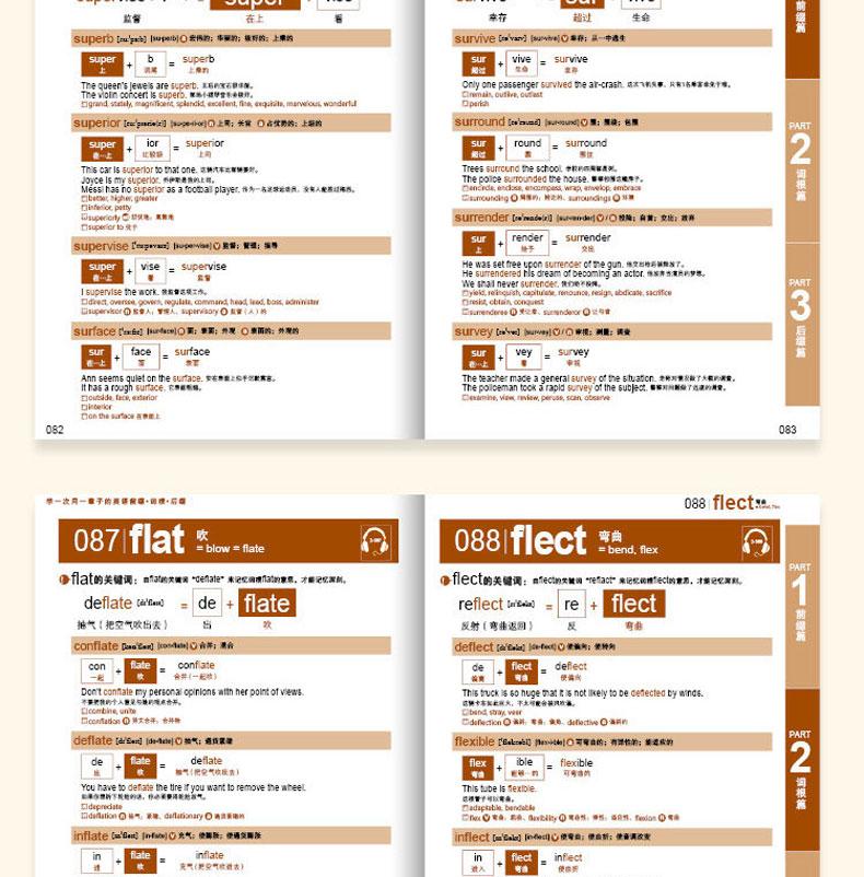 学一次用一辈子的英语光盘记忆初中(附词根)单词英语后缀前缀打小学生初中生打图片