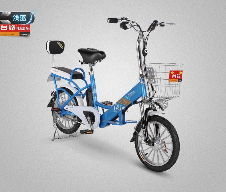 台铃锂电池电动车电动自行车智能助力电单车 小吉铃 变色龙 48v图片