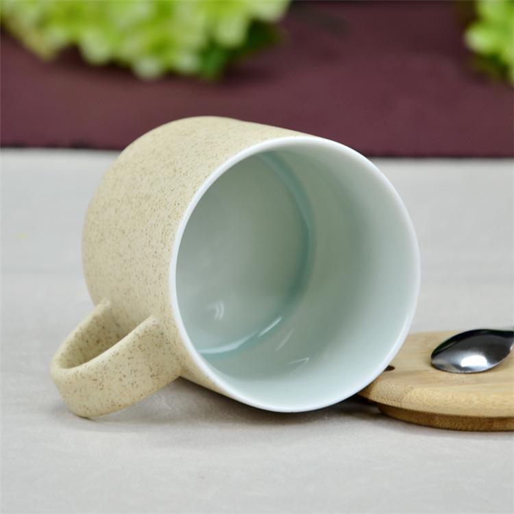 鹤礼 景德镇创意手绘陶瓷办公室情侣杯咖啡杯 水杯带木盖子和勺子200