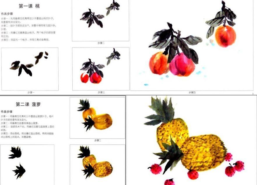 儿童正规学画基础教材 国画(上,下)水粉 速写 素描 从学画入门到逐步