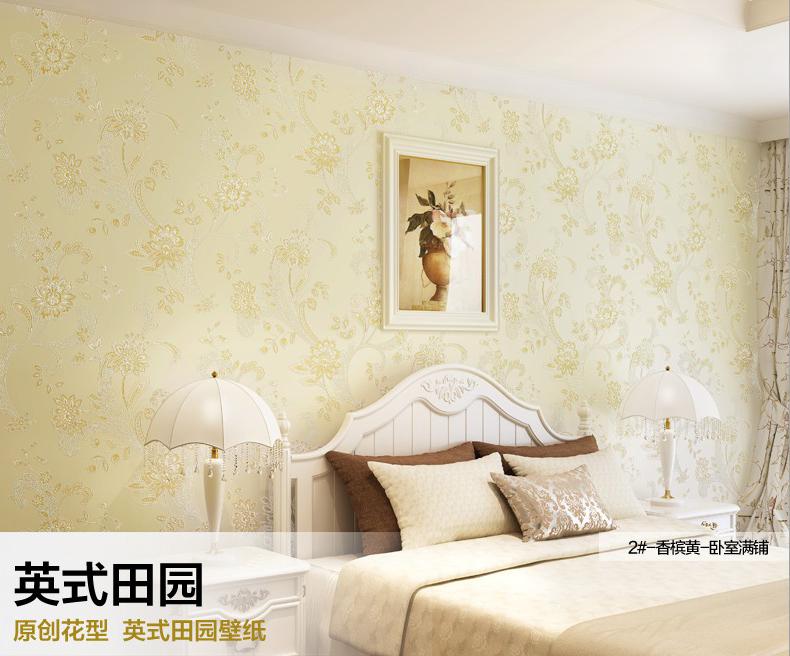 海宝先生英式田园无纺布客厅卧室书房墙纸沙发电视背景墙壁纸 3# 珍图片