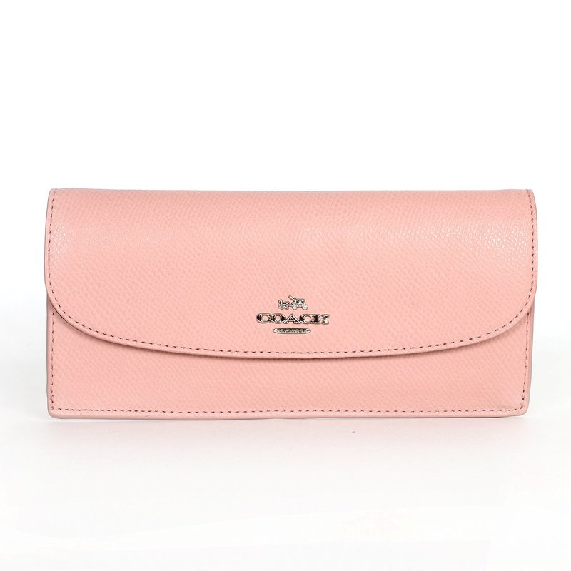 coach gray wallet  coach 52689 crossgrain