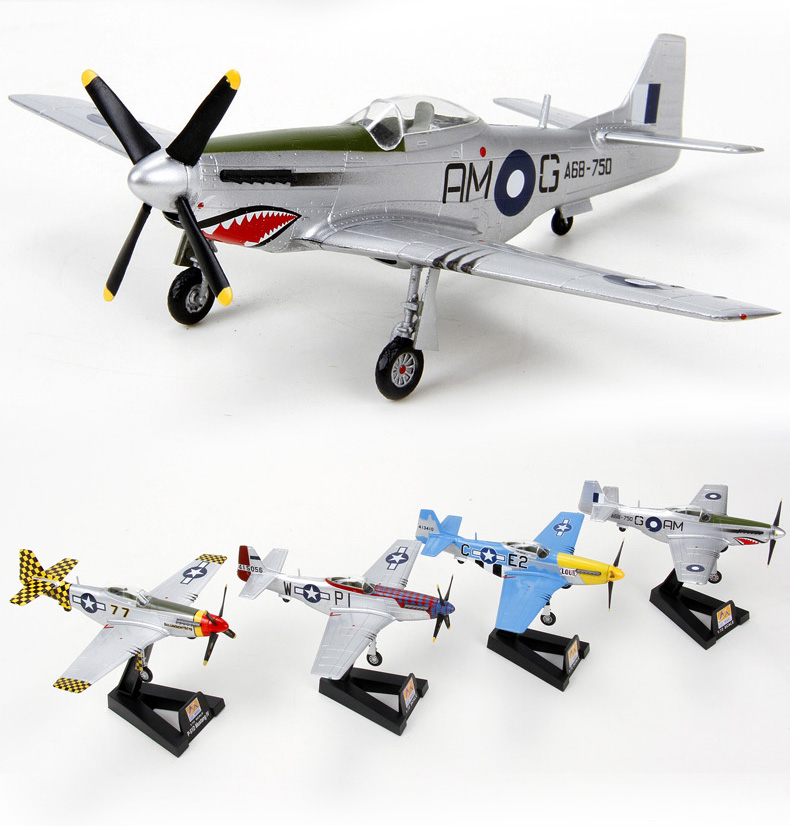 特尔博1:72二战美国p51d野马战斗机模型 模型玩具 军事收藏 儿童玩具