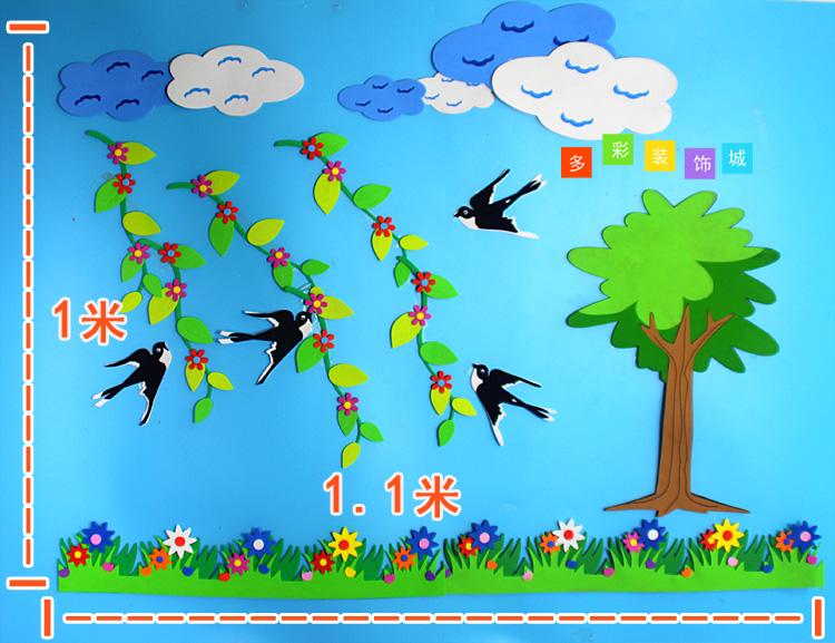 幼儿园小学班级文化墙黑板报装饰教室环境布置材料主题创意墙贴画