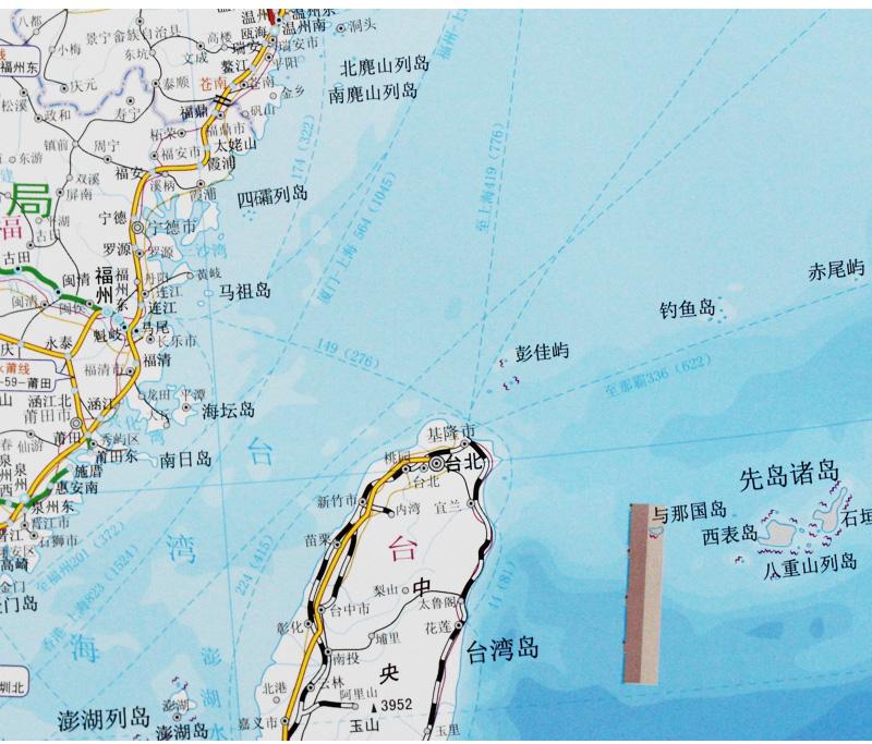 旅游/地图 全国高速公路/铁路地图 中国铁路交通图 约1.6x1.