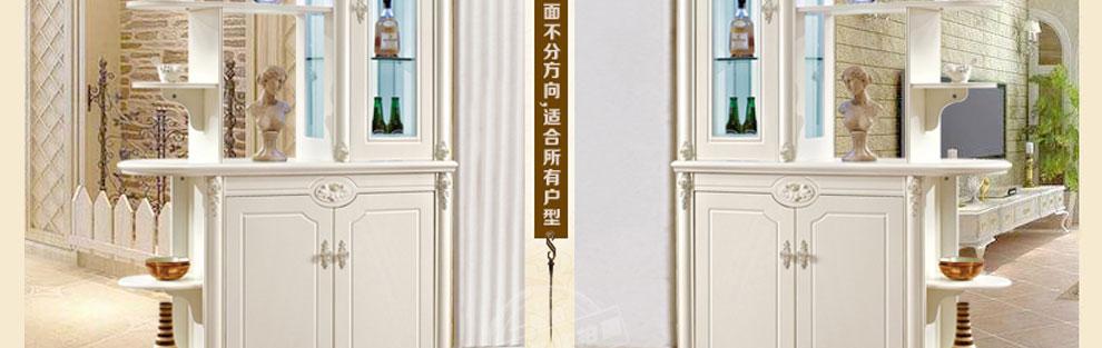 一路旺韩式酒柜韩式玄关柜隔断柜鞋柜客厅田园风格隔断间厅柜门厅柜