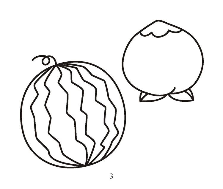 宝宝爱画画-蔬菜水果 童书手工简笔画 描画绘画宝宝书儿童书籍
