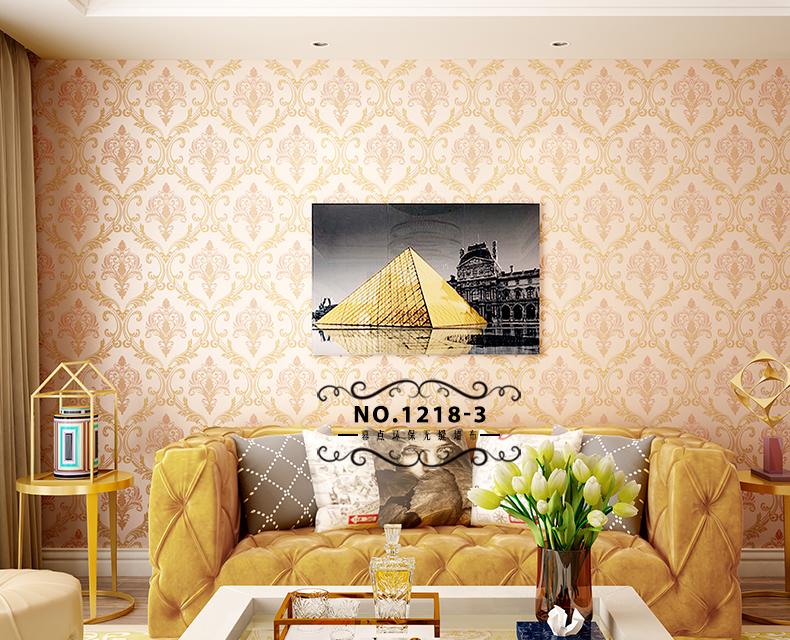 幕点无缝墙布 高档欧式客厅现代简约卧室电视背景墙图片