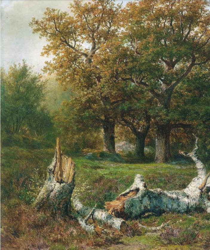 正版 西方绘画大师原作高清临本 大师风景 森林1 大师风景油画写生