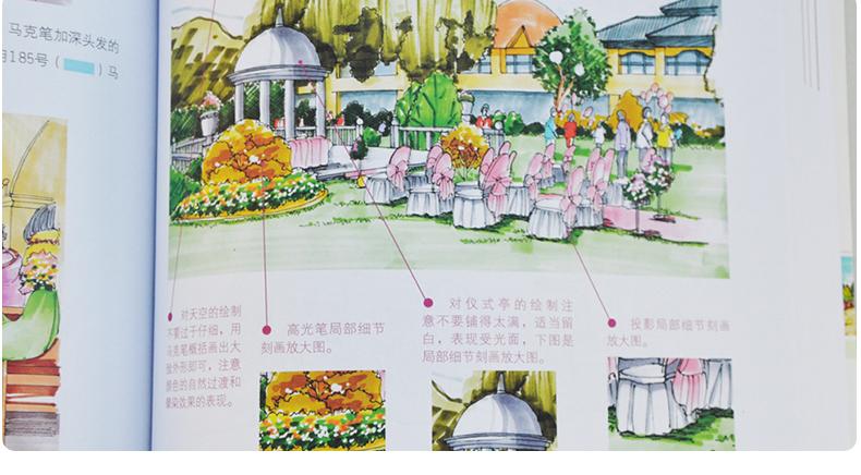 婚礼设计手绘实例教程 马克笔手绘效果图表现技法大全教程书籍 手绘视