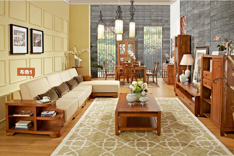 作木坊 实木沙发 现代中式 实木 家具客厅 转角