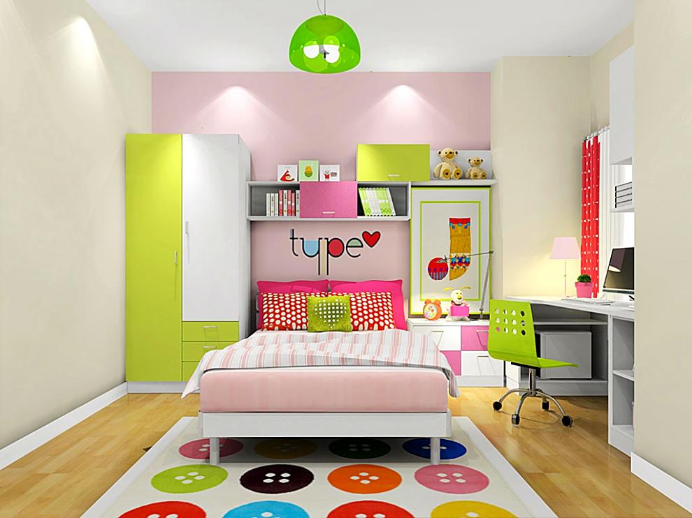 尚品宅配 卧室家具 床 儿童组合床 床头柜 衣柜 书桌