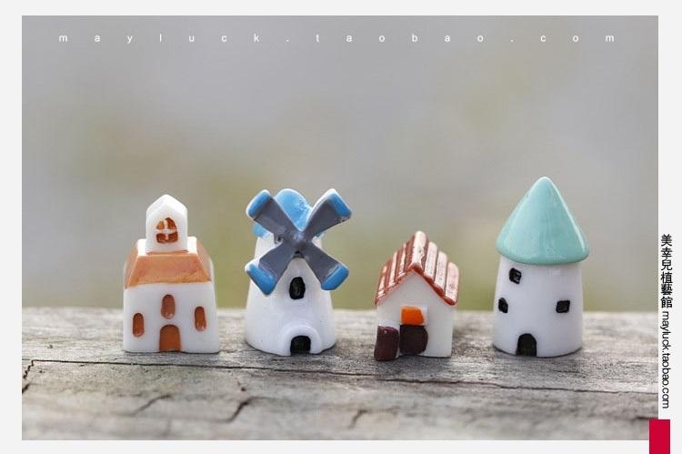 逍遥 微景观素材 迷你可爱卡通小风车小房子饰品摆件 风车