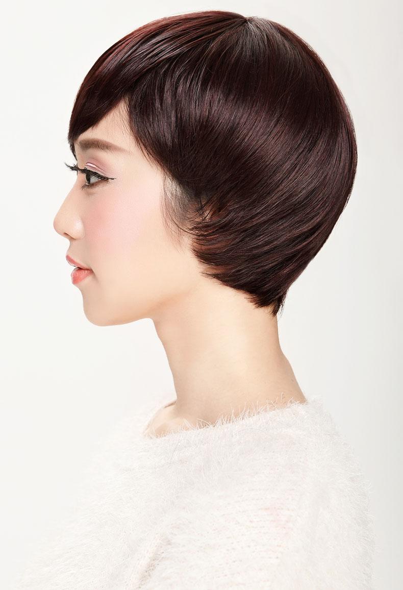 娇滴滴假发女个性不规则沙宣短发直发斜刘海帅气bobo图片图片