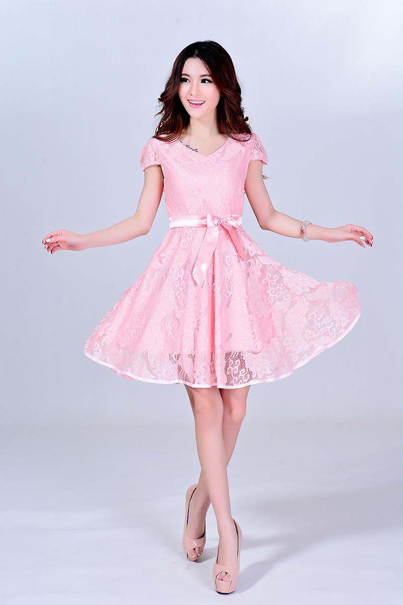 连衣裙韩版中长款休身