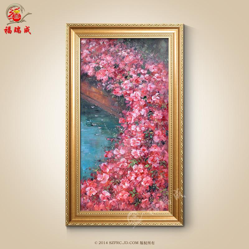 油画纯手绘古典欧式手工有框装饰画