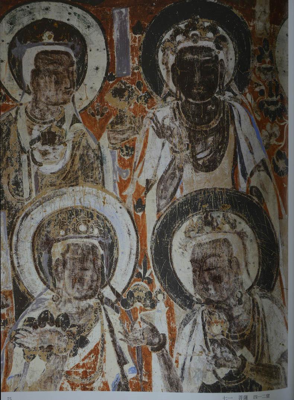 中国敦煌壁画隋 全集 经典莫高窟中国古代历代壁画 佛教故事飞天菩萨