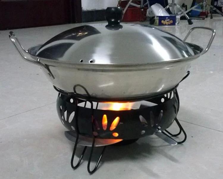 酒精炉_沉弗 加厚固体酒精炉 学生小火锅 干锅炉锅盖铁艺炉套装 可调节固体