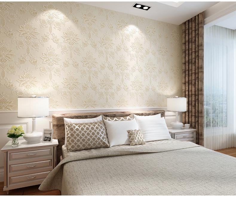 德尔菲诺 欧式墙纸客厅壁纸卧室无纺布背景墙纸耐磨防潮防霉 满铺图片