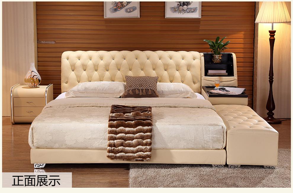 5米1.8米皮床 榻榻米床 乳胶床垫 1床头柜 1800*2000
