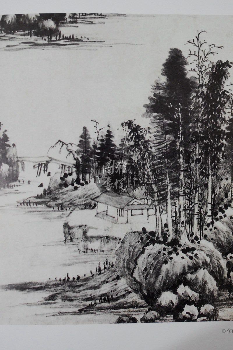 学生山水手绘绘画作品