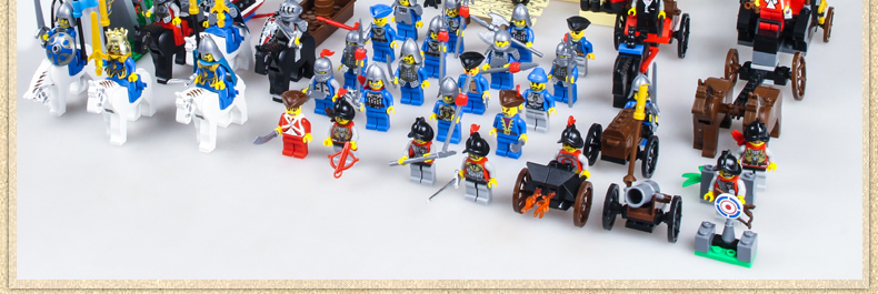 启蒙狮王城堡兼容乐高拼装积木塑料拼插益智玩具男孩