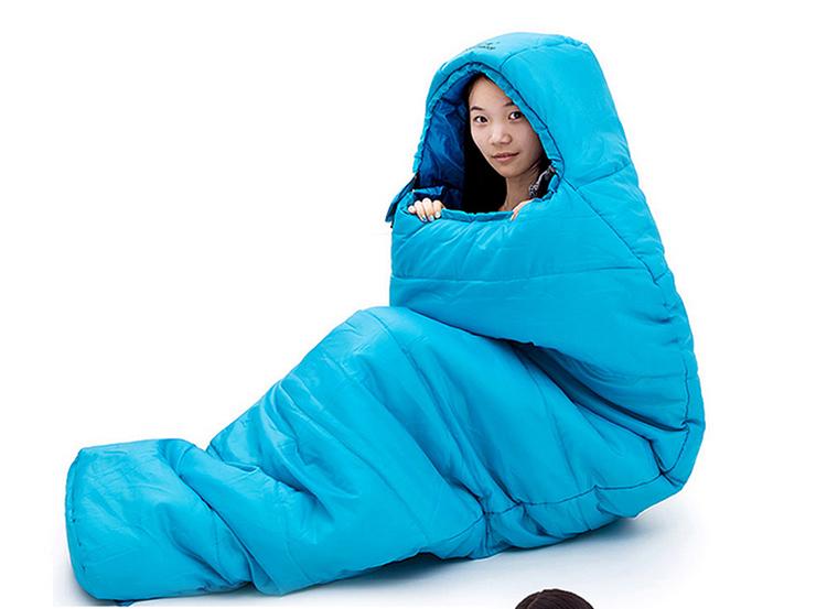 玛丁图(mountaintop)户外睡袋加厚妈咪式带帽野营成人睡袋春秋冬季
