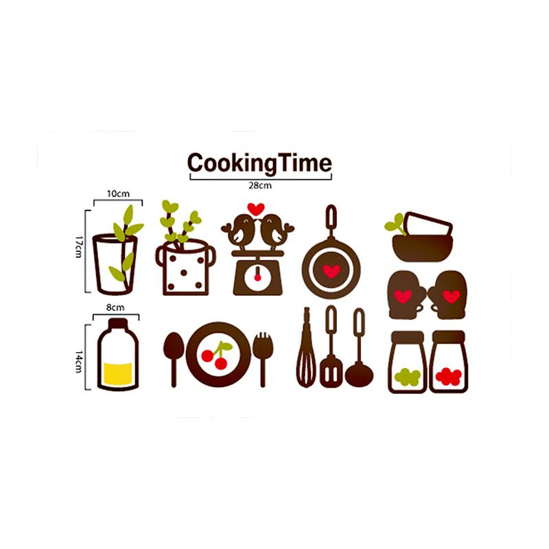 爱情树 个性创意可爱卡通厨房瓷砖防油装饰贴纸 水果贴可移除新款