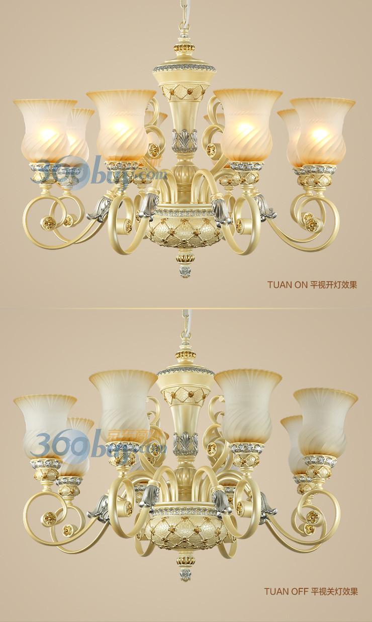 欧式吊灯奢华树脂客厅灯卧室灯别墅大厅灯灯饰