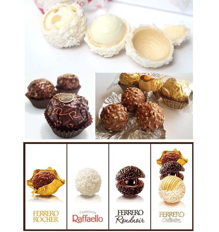 费列罗臻品巧克力礼盒t24粒装 拉斐尔 朗慕 金莎三种集锦