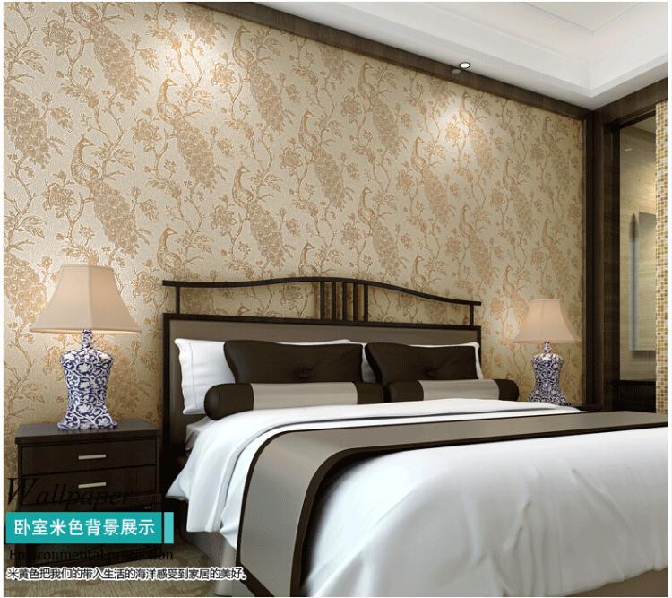 超萌象 现代中式3d无纺布墙纸 电视背景墙纸 环保立体卧室客厅壁纸 米图片