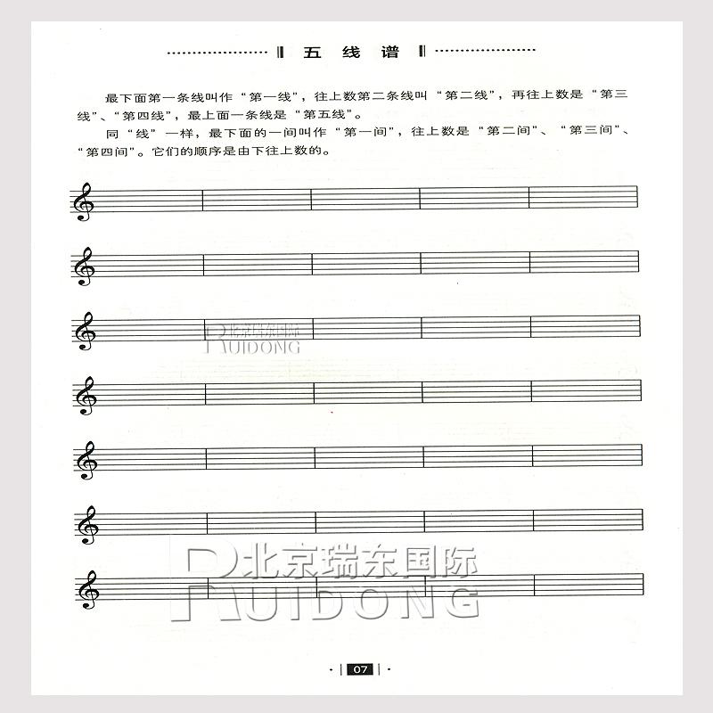 五线谱高音谱号旁边四个 ,和低音谱号旁边四个 的音符,在钢琴