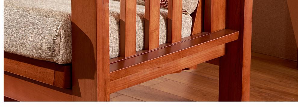 成都家具馆朗维士家居 现代新中式实木沙发 小户型客厅家具u型转角