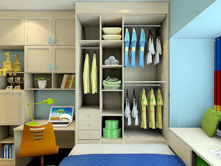 尚品宅配 全屋家具定制 儿童房 上下床 榻榻米 衣柜 书柜 书桌 空间