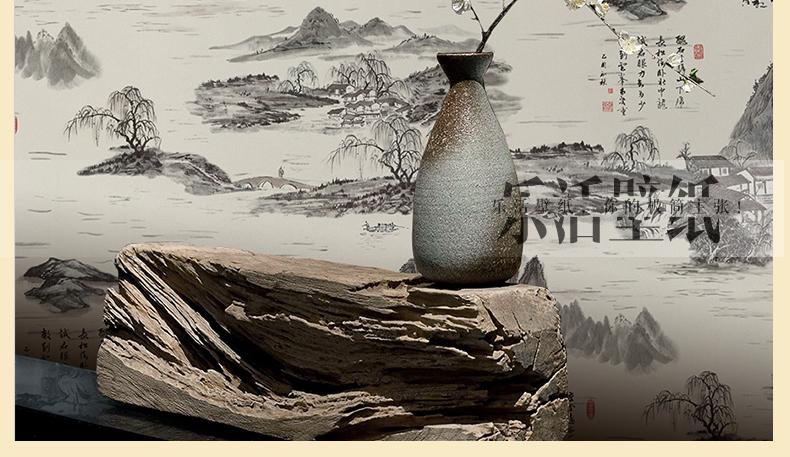 乐活壁纸 新古典中式水墨山水画壁纸 中式酒店茶楼餐厅书房电视背景图片