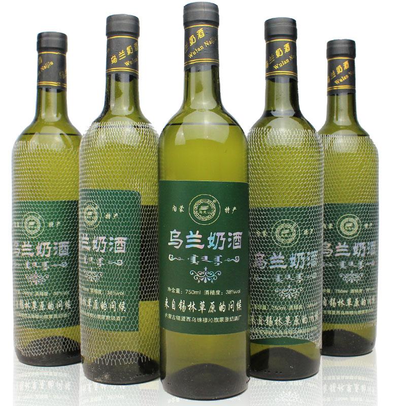 商品名称:内蒙古特产奶酒 6瓶*750ml 经典木盒装清香型6瓶每箱 草原奶酒38度750ml