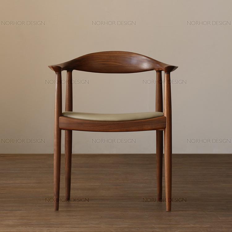 lm/美国经典/北美黑胡桃木家具/肯尼迪实木餐椅/扶手椅 榆木