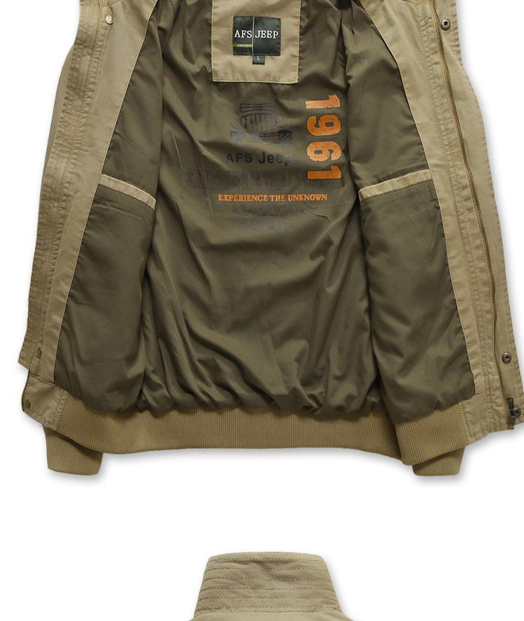jeep)男装休闲夹克外套